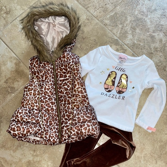 Girls Vest, Top and Pants